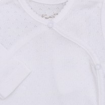 White Long Sleeve Babysuit