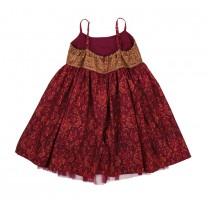 Fuschia Sleeveless Limar Printed Dress
