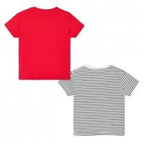 Red Stripe Baby Boy T-shirt Set