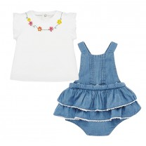 Baby Girl Ruffled Flower Dress