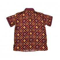 Purple Jumputan Printed Shirt