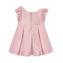 Baby Girl Pink Jacquard Dress