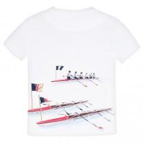 White Canoe Print T-Shirt