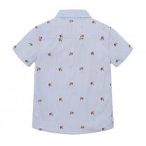 Blue Scooter Print Shirt