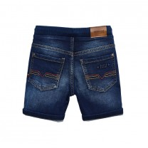 Washed Denim Jogger Shorts