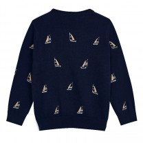 Yacht Embroidred Knit Sweater