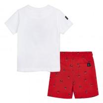 Red Bermuda Set