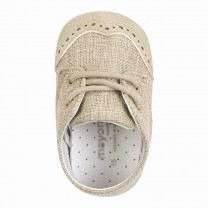Baby Beige Laced Shoes