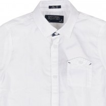 White Shirt with Pocket Button Detail