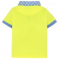 Neon Yellow Cotton Pique Polo Shirt