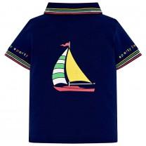 Navy Blue Jersey Polo Shirt