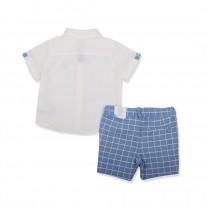 White and Blue Short Set