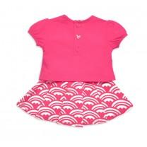 Pink Heart Skirt Set