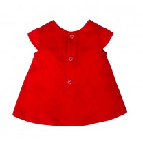 Red Puffed Heart Cotton Dress