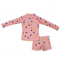 Candy Pink Dagny - Dots 2-piece Swim Suit