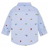 Sky Blue All-over Printed Shirt