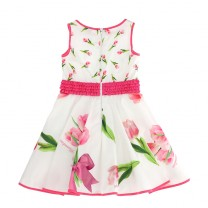 Pink Tulip Print Dress