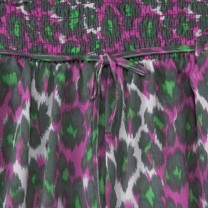Purple Green Leopard Print Shorts
