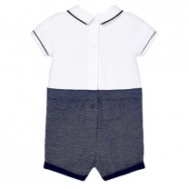 Baby Boys White Sailor Cotton Shortie