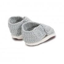 Grey Cross Sandals