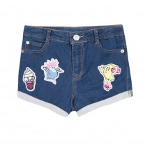 Denim Short With Patches