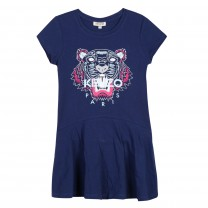 Girls Navy Blue Tiger Dress