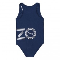 Navy Blue & White Logo Swimsuit