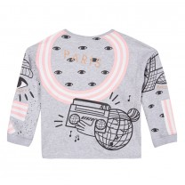 Light Grey with Pink Tiger Sweatshirt