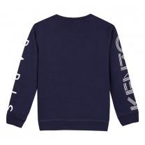 Navy Blue Printed Logo Sweatshirt