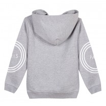 Grey Logo Hooded Jacket