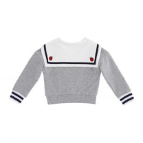 Grey Sailor Baby Sweater