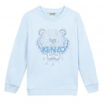Unisex Blue Cotton Sweatshirt