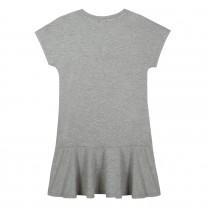 Grey Logo Print Dress