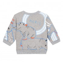 Misty Grey Crazy Jungle Sweater