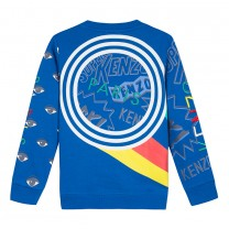 Blue Tiger Eye Cotton Sweatshirt