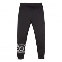 Black Logo Hem Jogger Pants