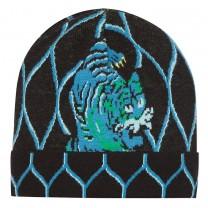 Black Dragon Cotton Knit Beanie Hat