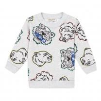 Light Grey Tiger & Friends Jirou Sweatshirt ( 2- 4 years)