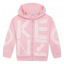 Pink Graphic Printed Logo Hoodie