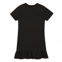 Black Logo Print Dress