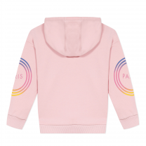 Pink Ombre Graphic Logo Hoodie