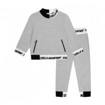 Grey Cotton Logo Sweater