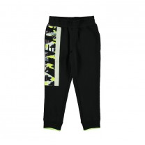 Black One Side Printed Jogger