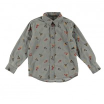Dark Grey Rockets Long Sleeved Shirt
