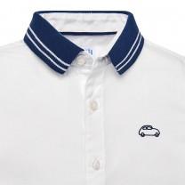 White Jersey Polo Shirt