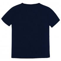 Navy Blue Scenery Graphic T-Shirt