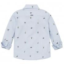 Sky Blue Patterned Shirt