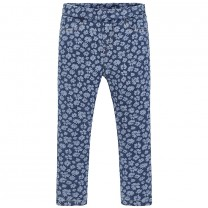 Blue Patterned Long Pants