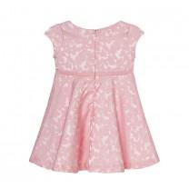 Pink Flared Floral Dress