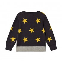 Grey Rocket Space Organic Cotton Knit Sweater